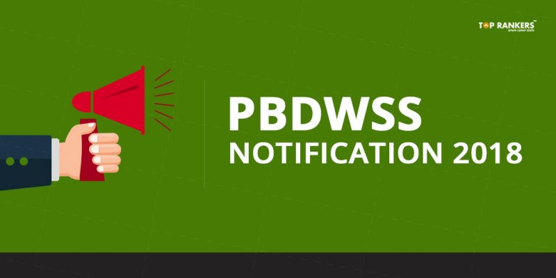 PBDWSS Notification 2018 | Recruitment for 210 Vacancy of JE