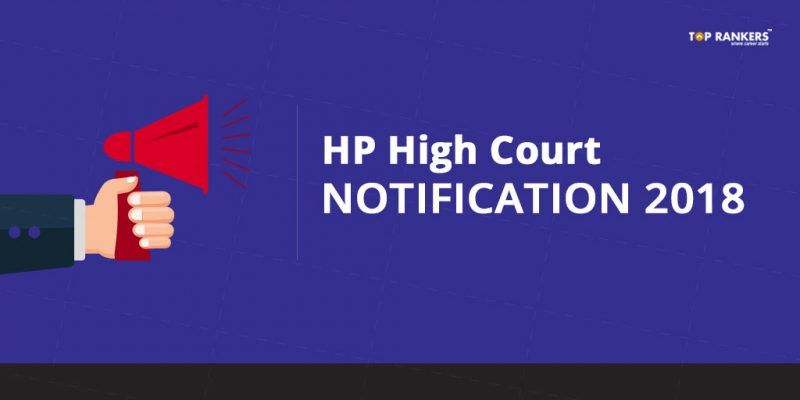 HP High Court Notification 2018 | Recruitment for Stenographers