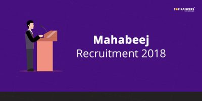 Mahabeej Notification 2018 | Mahabeej Recruitment for 171 Vacancies