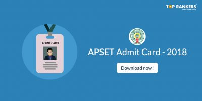 APSET Admit Card 2018 Out | Download Hall Ticket