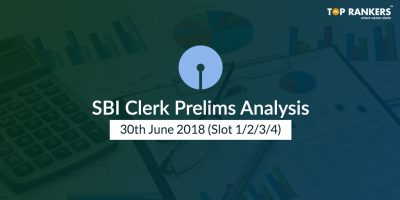 SBI Clerk Prelims Analysis 30th June 2018 (All Slots)