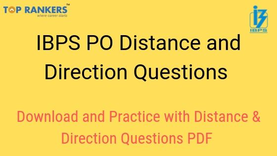 IBPS PO Distance and Direction Questions