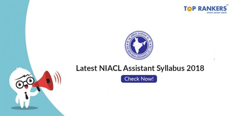 NIACL Assistant Syllabus 2018