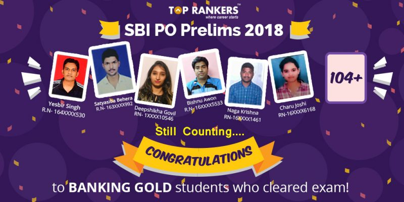 SBI PO Prelims Selected Aspirants who chose toprankers