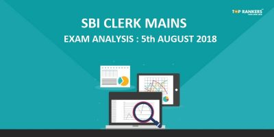 SBI Clerk Mains Exam Analysis 5th August 2018 & Questions asked