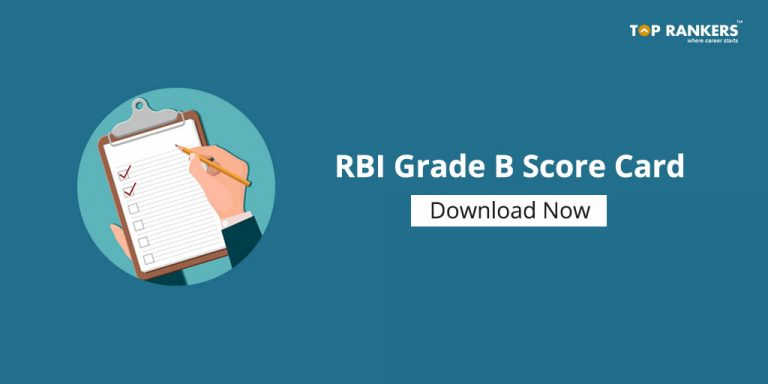 RBI Grade B Phase I Score Card 2018