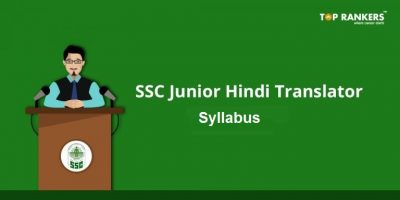 SSC Junior Hindi Translator Syllabus 2019 | Download JHT Syllabus PDF