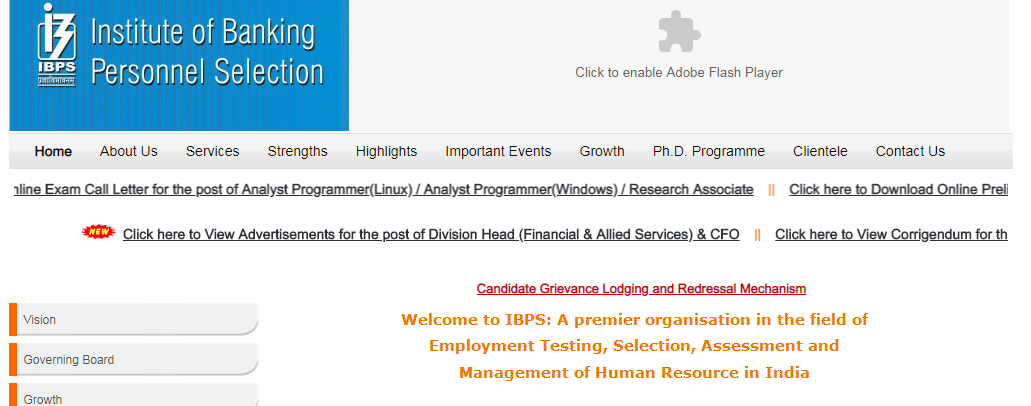 IBPS PO Application Form