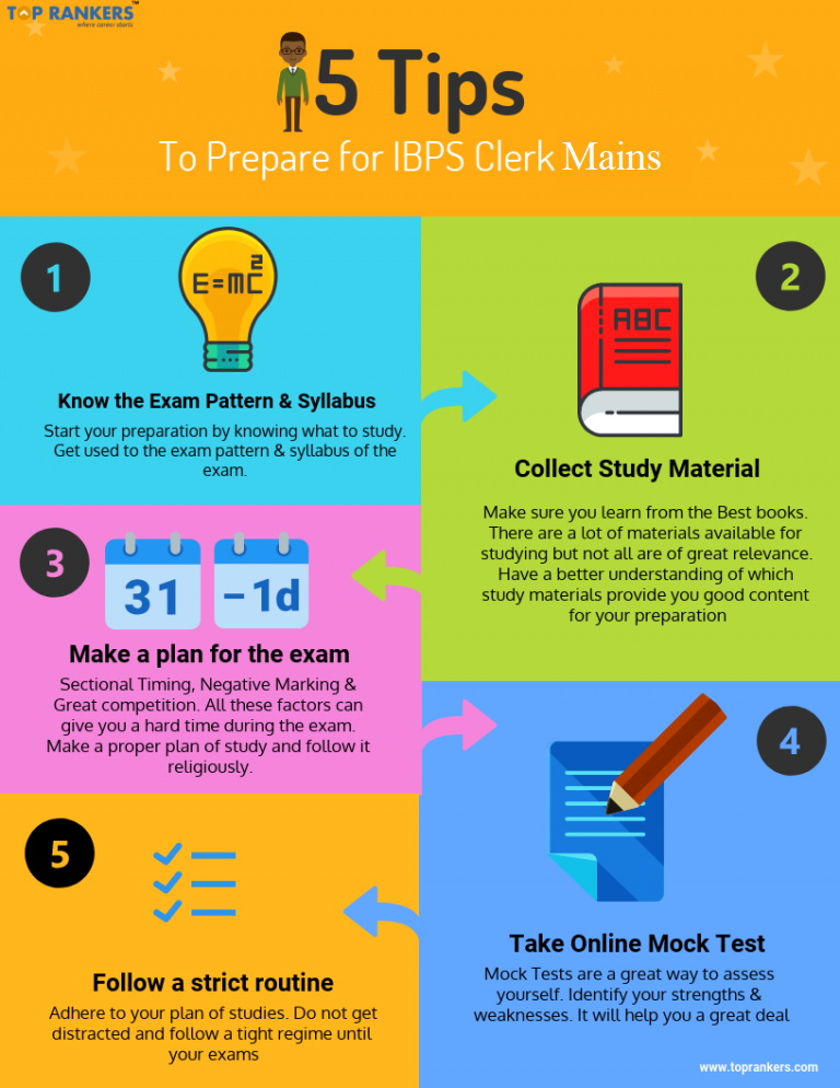 IBPS Clerk Preparation Tips for Mains 2018