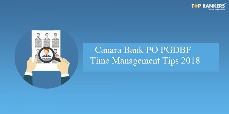 Canara Bank PO Time Management Tips