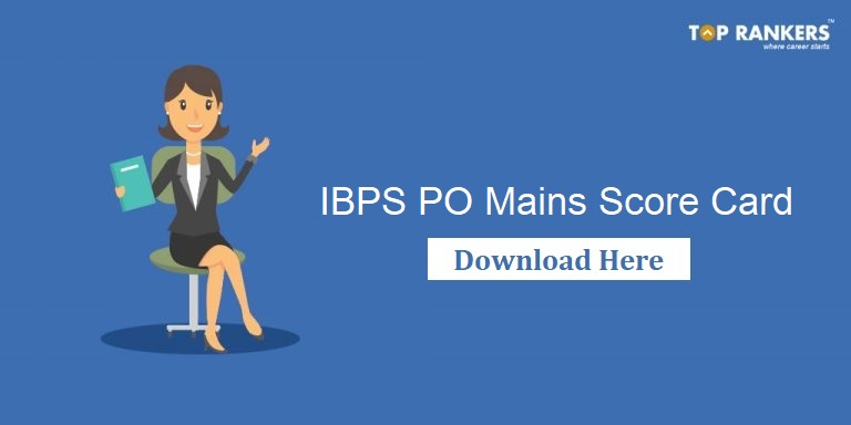 IBPS PO Score Card for Mains
