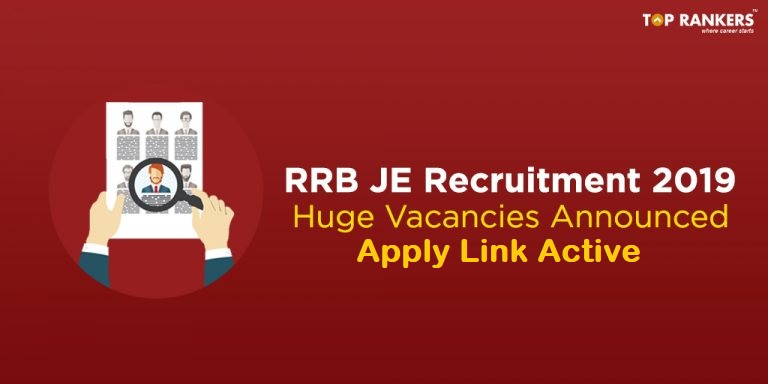 RRB JE Recruitment 2019