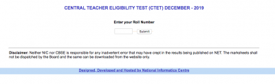 CTET Result 2019 – Direct Link To Check CTET Score Card