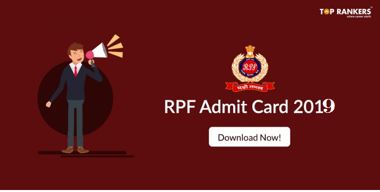 RPF Admit Card for Constable