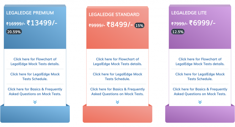 CLAT 2019 - Mock Tests by legaledge