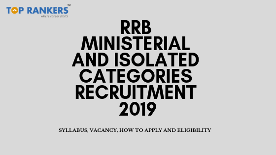rrb ministerial and isolated categories recruitment
