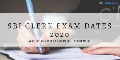 SBI Clerk Prelims Exam Dates 2020