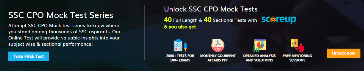 ssc cpo answer key