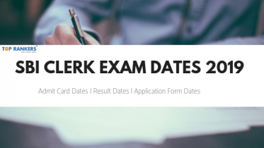 SBI Clerk Exam Dates 2019