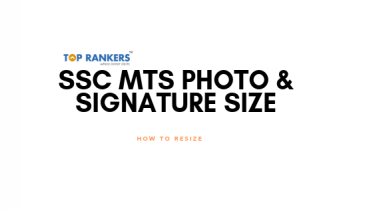 SSC MTS Photo & Signature Size
