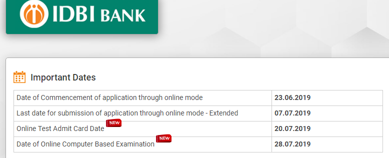 IDBI Assistant Manager Admit Card 2019 (Manipal) Download Call Letter