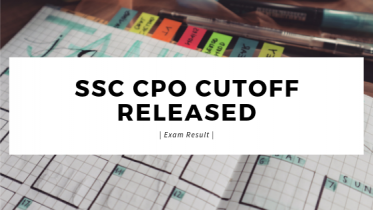 SSC CPO Cut Off 2019