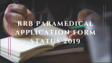 RRB Paramedical Application Status 2019