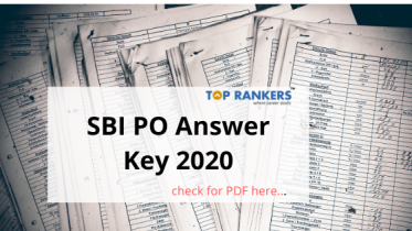 SBI PO Answer Key 2020 | Check your chances of getting through