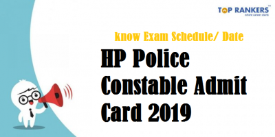 HP Police Constable Admit Card 2019 | Download PET Hall Ticket