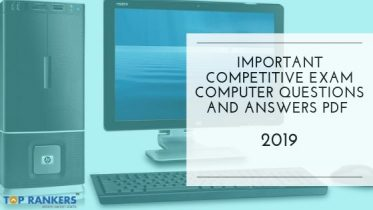 Important Competitive Exam Computer Questions and Answers PDF 2019