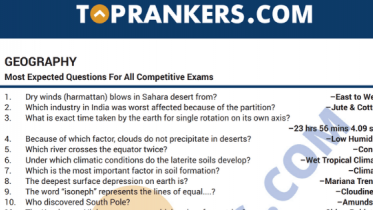 Indian Geography Questions and Answers PDF for Competitive Exams