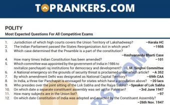 Indian Polity Questions PDF for Competitive Exams