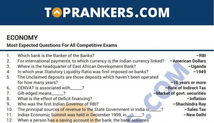 Indian Economy Questions Answers