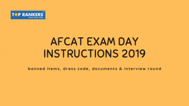 AFCAT Exam Day Instructions 2019