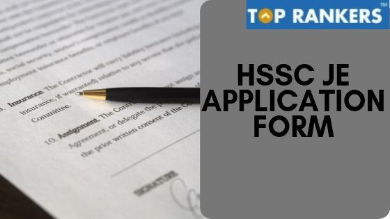 HSSC JE Application Form