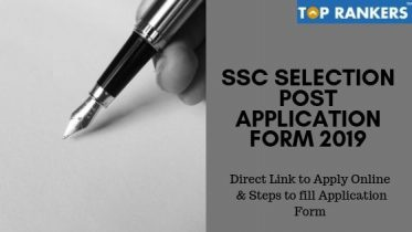 SSC Selection Post Application Form 2019 | Apply Now