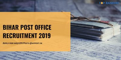 Bihar Post Office Recruitment 2019: Apply for 1063 GDS Posts Here