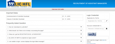 LIC HFL Admit Card 2019  – Download Call Letter for Interview