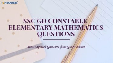 SSC GD Constable Elementary Mathematics Questions