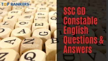 SSC GD Constable English Questions & Answers