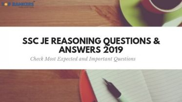 Important SSC JE Reasoning Questions 2020