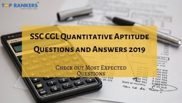 SSC CGL Quantitative Aptitude Questions and Answers