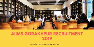 AIIMS Gorakhpur Recruitment 2019
