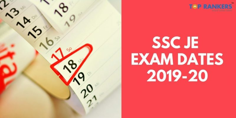 SSC JE Exam Dates