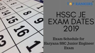 HSSC JE Exam Dates 2019 – Complete Exam Schedule