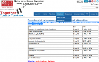 NYKS Admit Card 2019