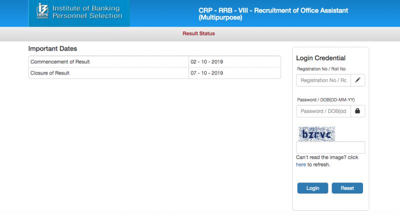 IBPS RRB Result for Clerk- IBPS RRB Pre Result- IBPS RRB Clerk Result