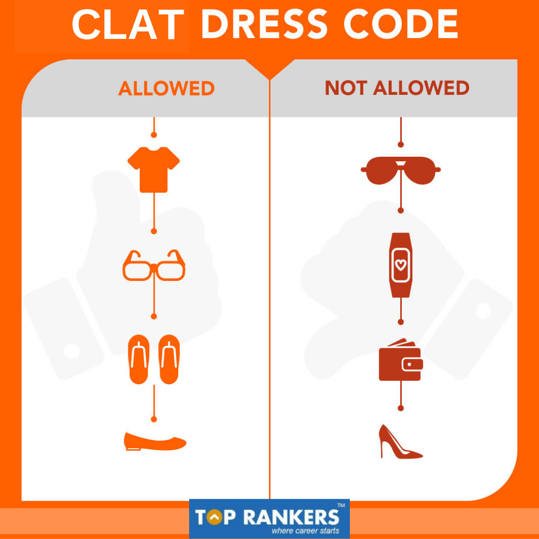 Clat exam day instructions