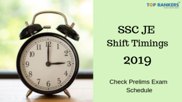 SSC JE Exam Shift Timings