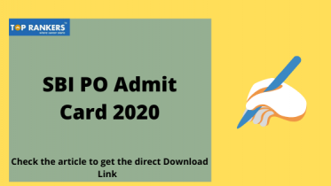 SBI PO Admit Card 2020:Check to download